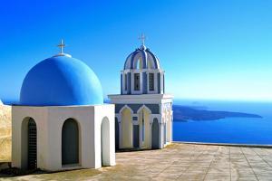 Classic Santorini Scene by Jeni Foto