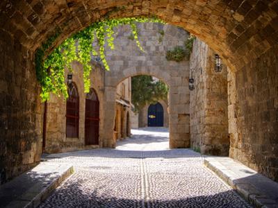 Medieval Arched Street by Jeni Foto