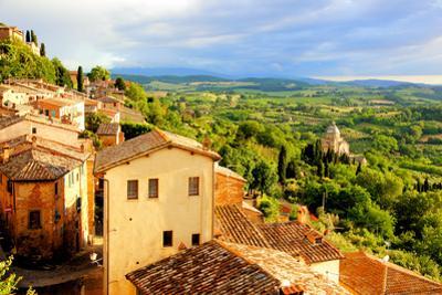 Tuscan Town at Sunset by Jeni Foto