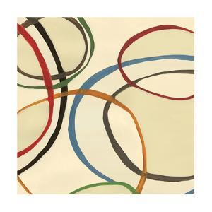 13 Thursday Square II Circle Abstract by Jeni Lee