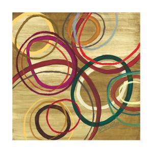 21 Tuesday I - Bright Circle Abstract by Jeni Lee
