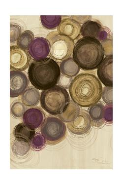 Purple Whimsy II Circles by Jeni Lee