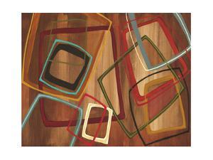 Twenty Tuesday I - Brown Square Abstract by Jeni Lee