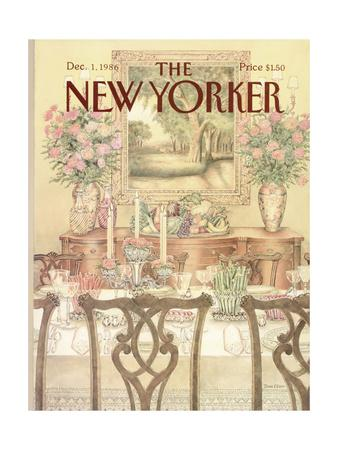 The New Yorker Cover - December 1, 1986