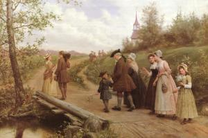 Sunday Morning by Jennie Augusta Brownscombe