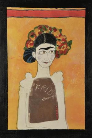 Frida Kahlo White by Jennie Cooley