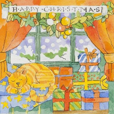 Christmas gifts and a cat by Jennifer Abbott