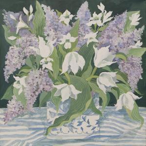 Lilac and Tulips by Jennifer Abbott