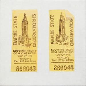 Old ticket of Empire State Building by Jennifer Abbott