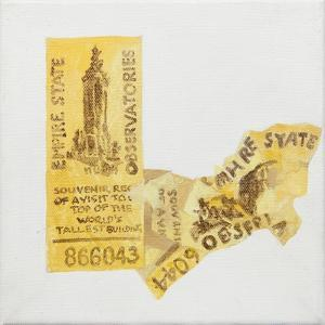 Old ticket of Empire State Builidng, 1 ticked torn up by Jennifer Abbott