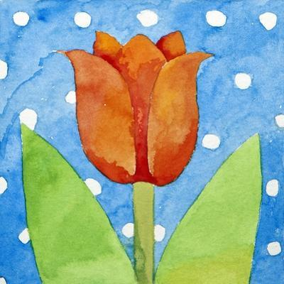 Tulip Blue White Spot Background, 2013 by Jennifer Abbott