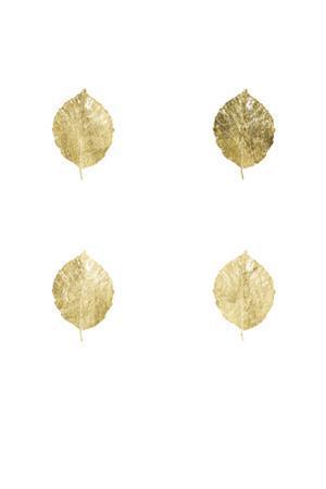 4-Up Gold Foil Leaf V by Jennifer Goldberger