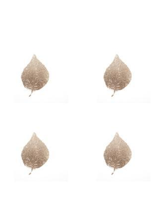 4-Up Rose Gold Foil Leaf II by Jennifer Goldberger