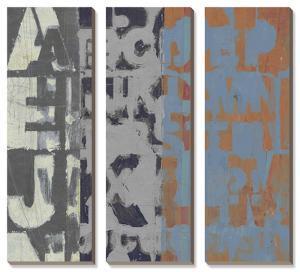 Alphabet Overlay I by Jennifer Goldberger