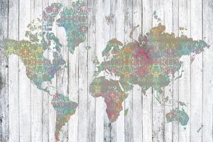 Boho Map II by Jennifer Goldberger