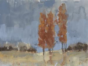Burnt Sienna Treeline I by Jennifer Goldberger