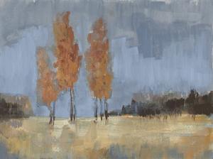 Burnt Sienna Treeline II by Jennifer Goldberger