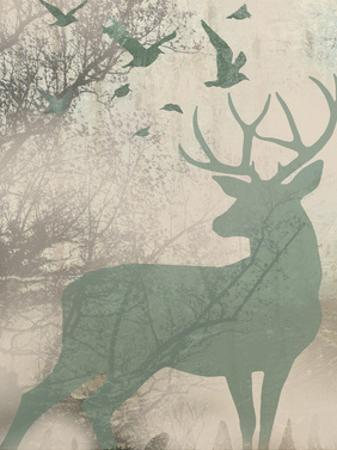 Deer Solace I by Jennifer Goldberger