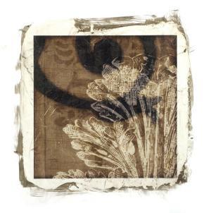 Embellished Scroll Nine Patch IX by Jennifer Goldberger