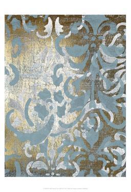 Foil Damask Over Gold III by Jennifer Goldberger