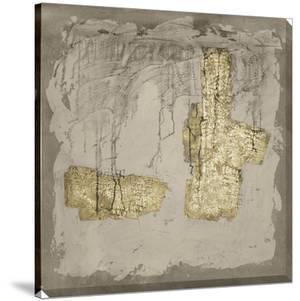 Gilded Neutral Ravine IV by Jennifer Goldberger
