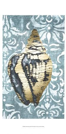 Gilded Solitary Shell II by Jennifer Goldberger
