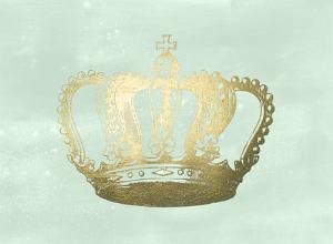 Gold Foil Crown I on Seafoam Wash by Jennifer Goldberger