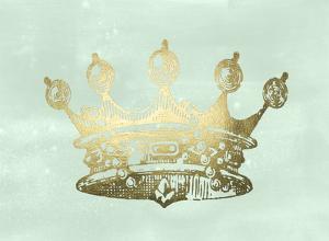 Gold Foil Crown II on Seafoam Wash by Jennifer Goldberger