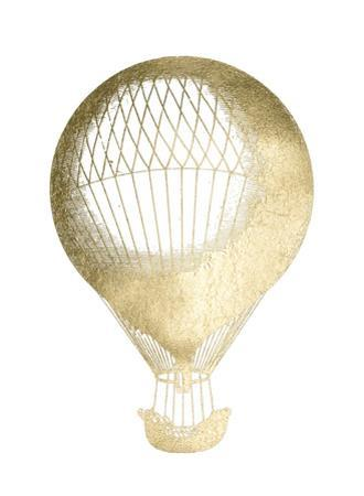Gold Foil Hot Air Balloon I by Jennifer Goldberger