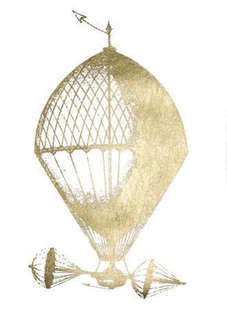 Gold Foil Hot Air Balloon II by Jennifer Goldberger