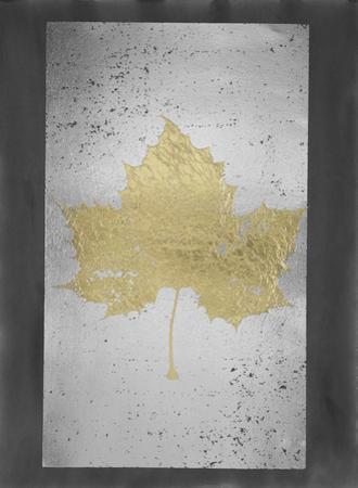 Gold Foil Leaf II on Silver Foil & Black Wash by Jennifer Goldberger