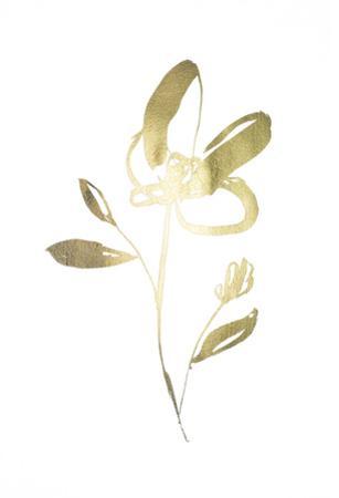 Gold Foil Sumi-e I by Jennifer Goldberger