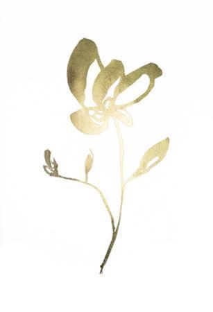 Gold Foil Sumi-e II by Jennifer Goldberger