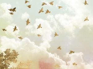 Golden Flight I by Jennifer Goldberger
