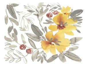 Golden Flower Composition II by Jennifer Goldberger