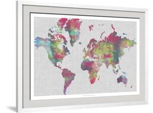 Impasto Map of the World by Jennifer Goldberger
