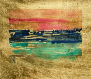 Lustr Indigo Sunset I by Jennifer Goldberger