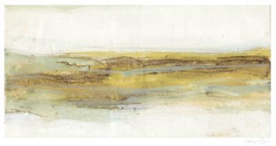Mint & Ochre Horizon I by Jennifer Goldberger
