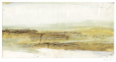 Mint & Ochre Horizon II by Jennifer Goldberger