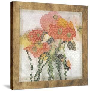 Mosaic Poppies I by Jennifer Goldberger