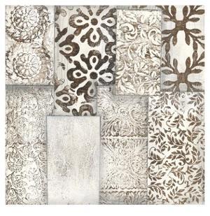 Neutral Patterned Patchwork I by Jennifer Goldberger