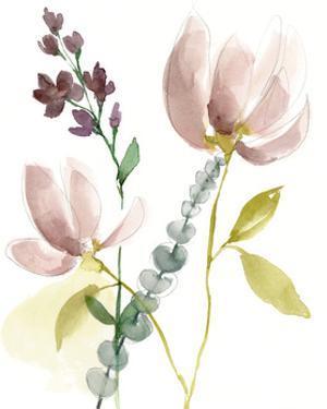 Pastel Flower Composition I by Jennifer Goldberger
