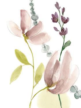 Pastel Flower Composition II by Jennifer Goldberger