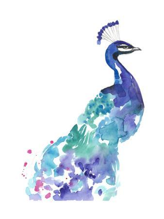 Peacock Splash I by Jennifer Goldberger