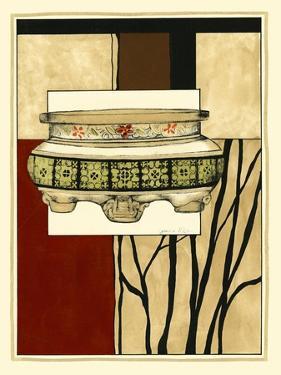 Printed Porcelain Garden I by Jennifer Goldberger
