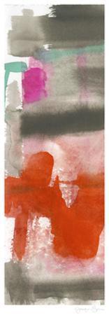 Red, Pink & Grey I by Jennifer Goldberger