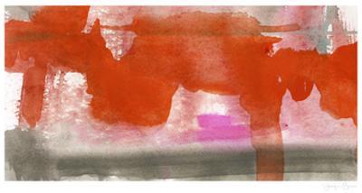 Red, Pink & Grey IV by Jennifer Goldberger