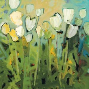 White Tulips I by Jennifer Harwood