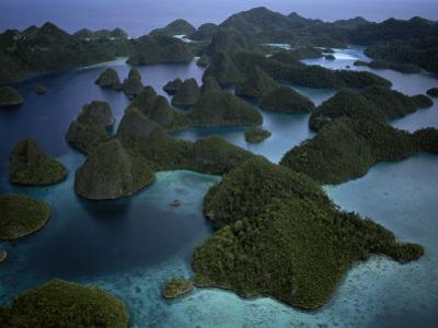 Karst islands forming Wayag