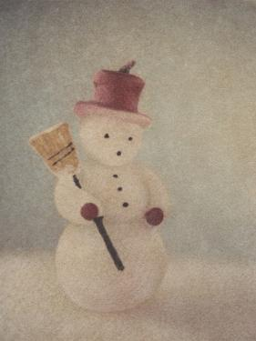 Snowman and Broom by Jennifer Kennard by Jennifer Kennard